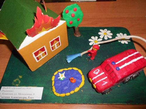 детские поделки на тему пожарная безопасность своими руками