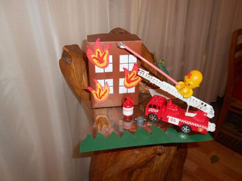 поделки на тему пожарная безопасность для детского сада своими руками 5
