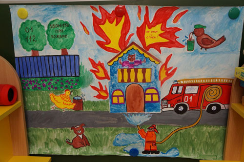 поделки на тему пожарная безопасность для детского сада своими руками 3