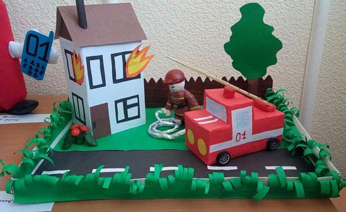 поделка на тему пожарная безопасность в школу 7