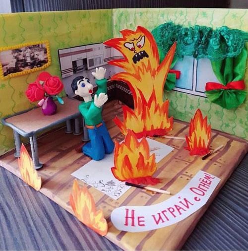 поделки на тему пожарная безопасность для детского сада 7