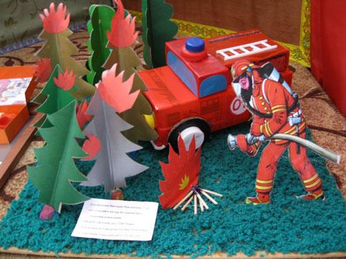 поделки на тему пожарная безопасность для детского сада 5