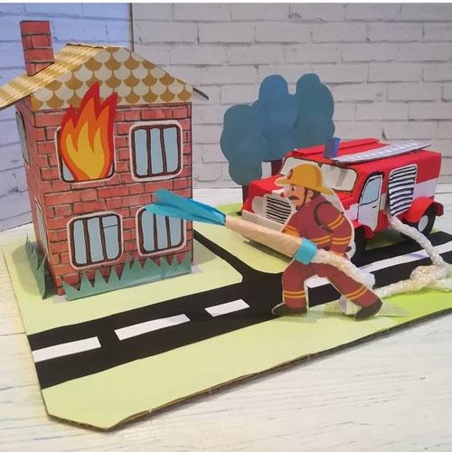 творческая работа на тему пожарная безопасность поделки 9