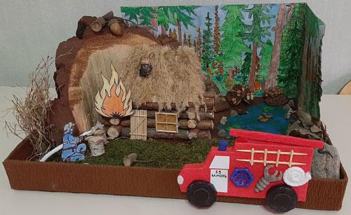 творческая работа на тему пожарная безопасность поделки 2