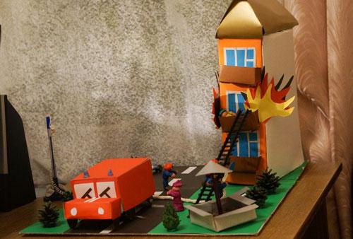 поделка на тему пожарная безопасность дома 10