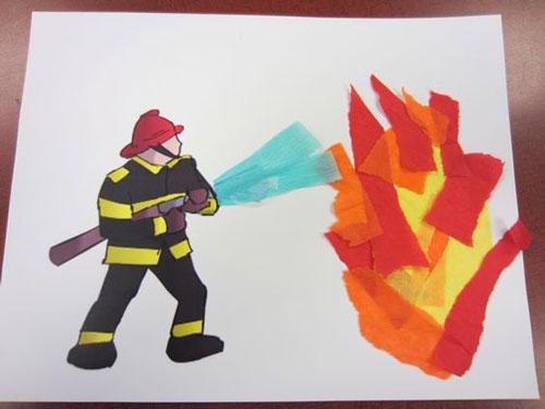 легкая поделка на тему пожарная безопасность 4