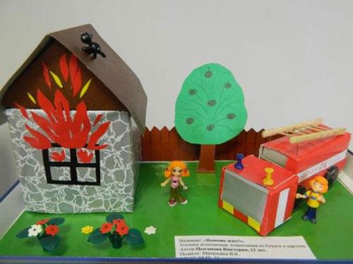 легкая поделка на тему пожарная безопасность 2