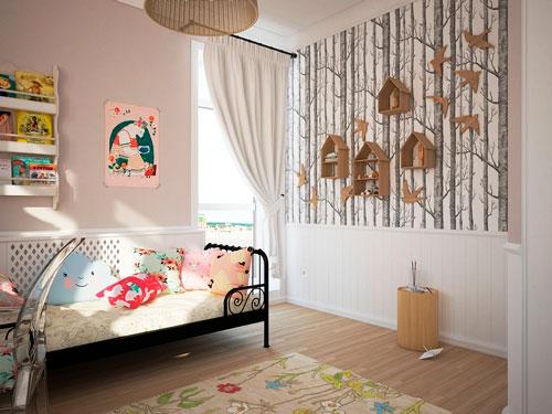 скандинавский стиль в интерьере детской комнаты 2