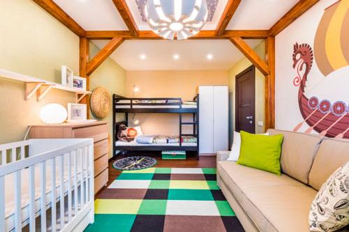 скандинавский стиль в интерьере детской комнаты 9