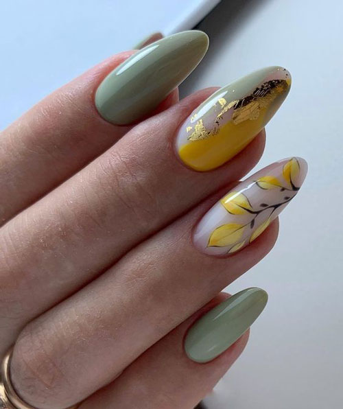 осенний дизайн ногтей 6