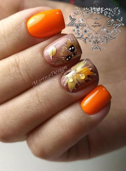 осенний дизайн ногтей 3
