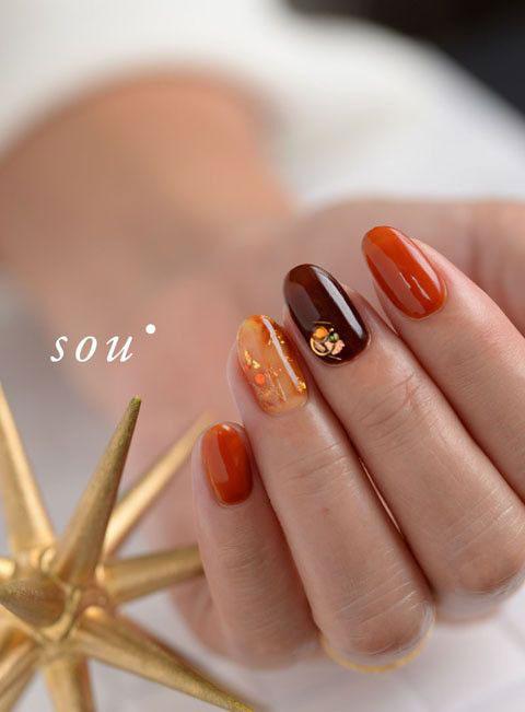 осенний дизайн ногтей с фото 10