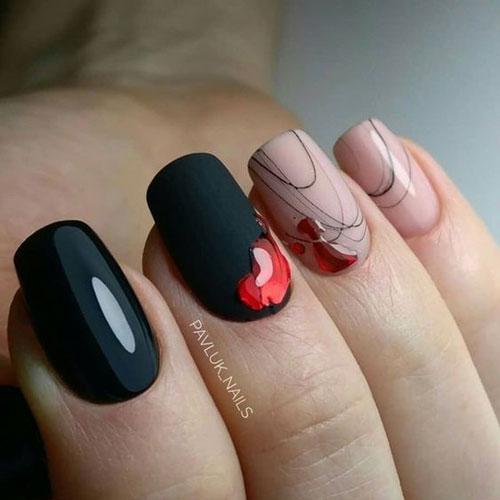 дизайн длинных ногтей осень фото