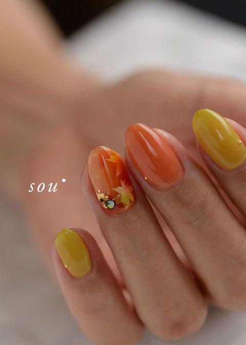 осенний дизайн ногтей с фото 3