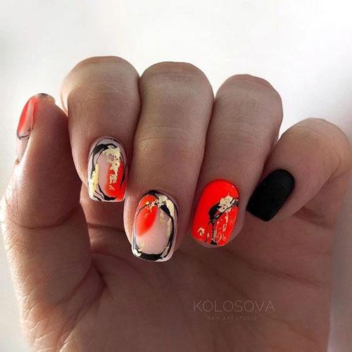 осенний дизайн ногтей с фото 2