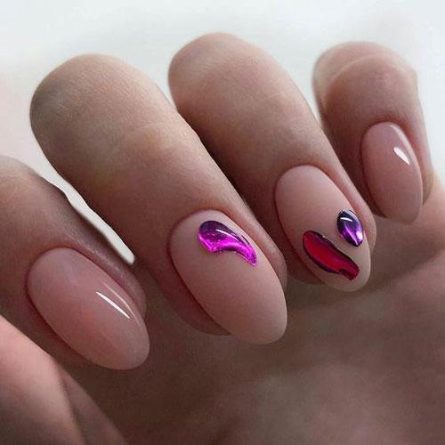 осенний дизайн ногтей с фото