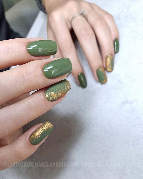 фото дизайн гелевых ногтей осень 2021