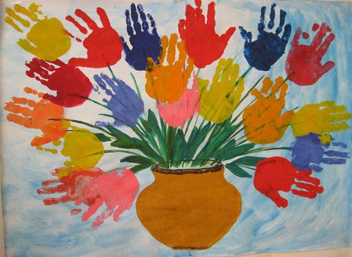 поделки из бумаги к дню матери в детском саду подготовительная группа
