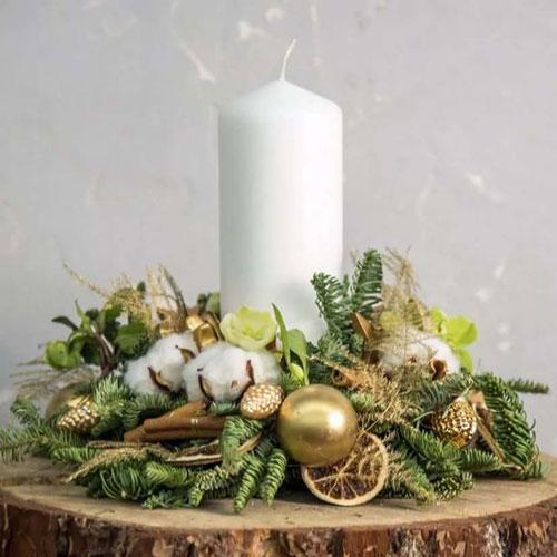 новогодние свечи своими руками идеи 5