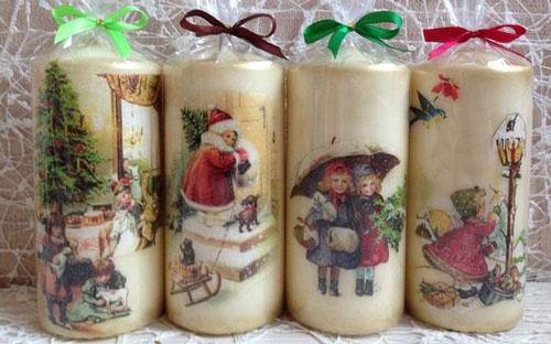новогодние свечи своими руками мастер класс в домашних условиях 7
