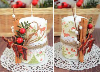 новогодние свечи своими руками мастер класс в домашних условиях 6