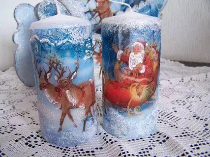 новогодние свечи своими руками мастер класс в домашних условиях 4