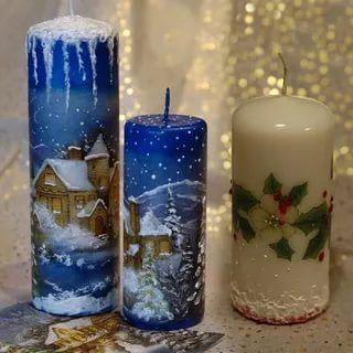 новогодние свечи своими руками мастер класс в домашних условиях 3