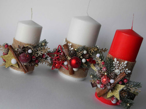 новогодние свечи своими руками мастер класс в домашних условиях 2