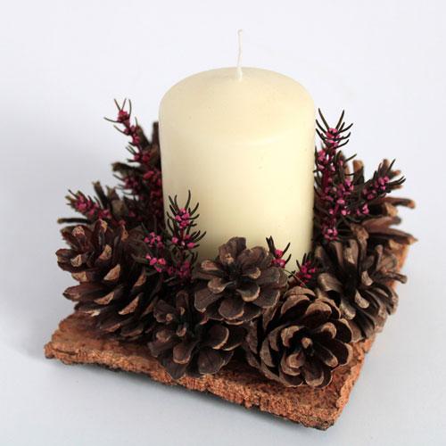 новогодние свечи своими руками мастер класс в домашних условиях