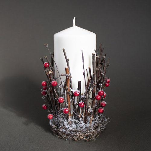 новогодние свечи своими руками мастер класс 9