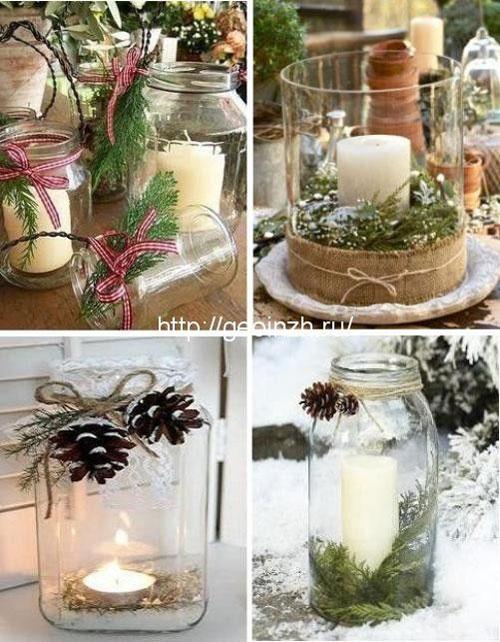 новогодние свечи своими руками идеи 10