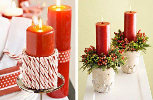 новогодние композиции со свечами 2