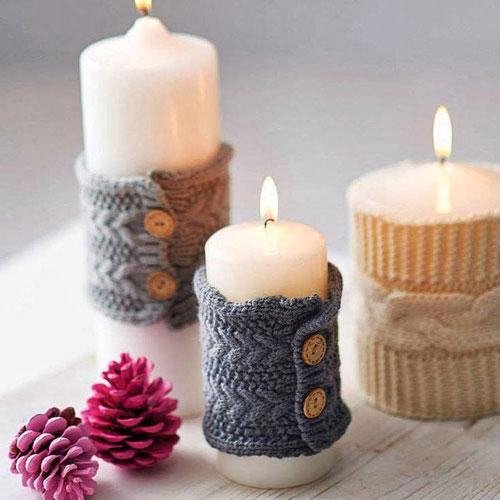 новогодние свечи своими руками мастер класс 7