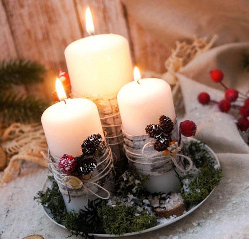 новогодние свечи своими руками фото 1