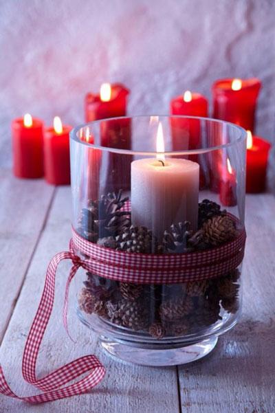 свечи своими руками на новый год в домашних условиях 6