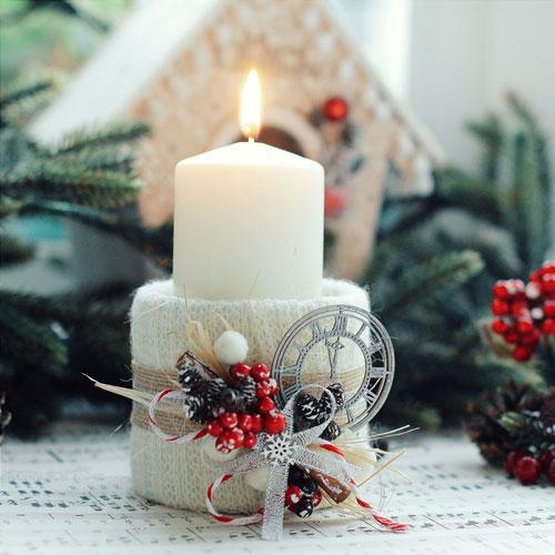 новогодние свечи своими руками мастер класс 6