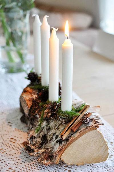 свечи своими руками на новый год в домашних условиях 5