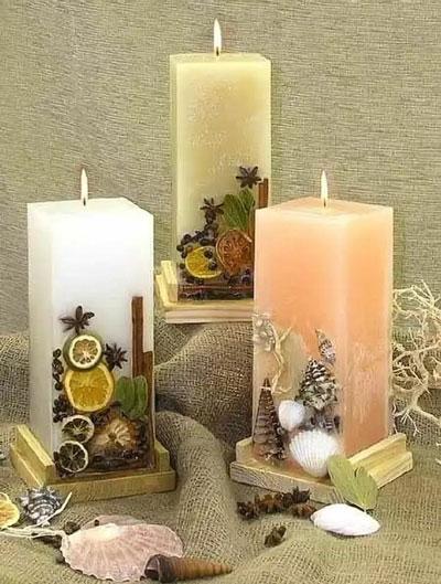 свечи своими руками на новый год в домашних условиях 4