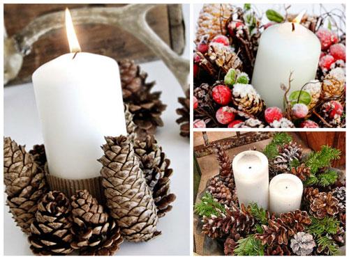 свечи своими руками на новый год в домашних условиях