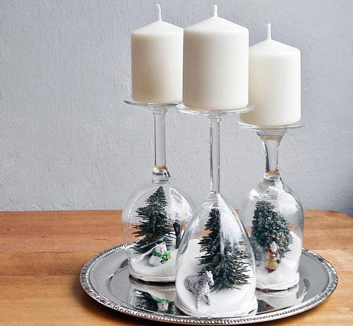 новогодние композиции со свечами в домашних условиях своими руками 9