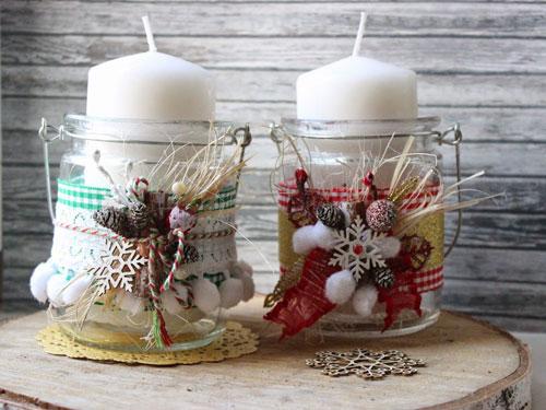 новогодние композиции со свечами в домашних условиях своими руками 8