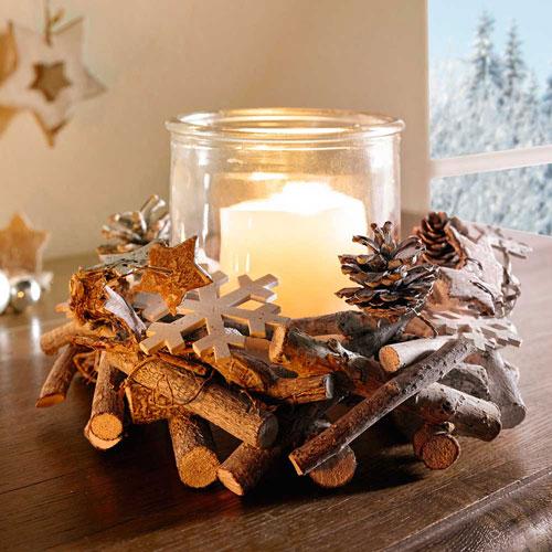 новогодние композиции со свечами в домашних условиях своими руками 7