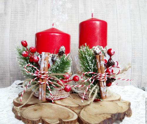 новогодние свечи своими руками мастер класс 5
