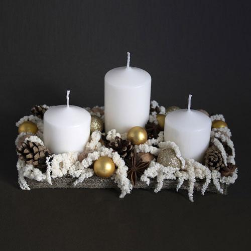 новогодние композиции со свечами в домашних условиях своими руками 5