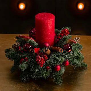 новогодние композиции со свечами в домашних условиях своими руками 4