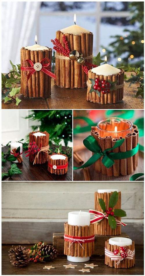 новогодние композиции со свечами в домашних условиях своими руками