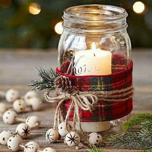 новогодние композиции со свечами в домашних условиях 8