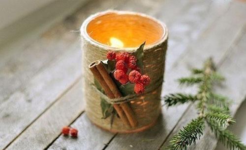 новогодние композиции со свечами в домашних условиях 7