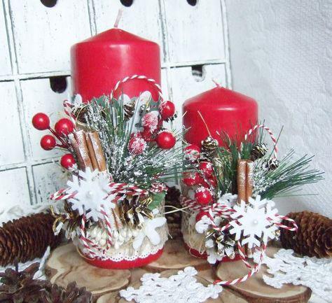 новогодние композиции со свечами в домашних условиях 6