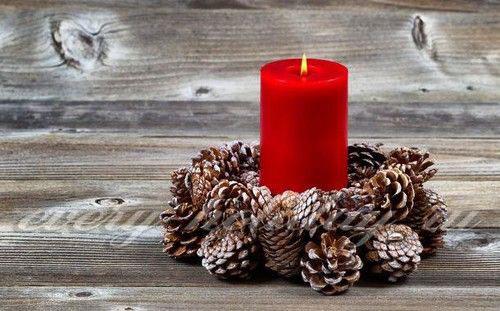 новогодние композиции со свечами в домашних условиях 5